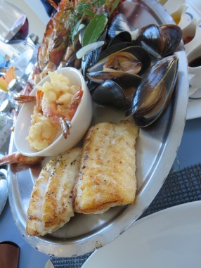 Seafood at The Marine.